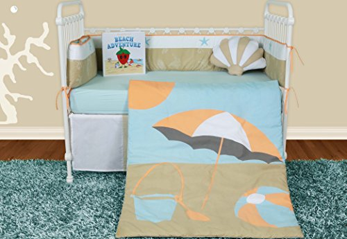 Snuggleberry Baby Crib Bedding Collection, Sun And Sand, 6 Count