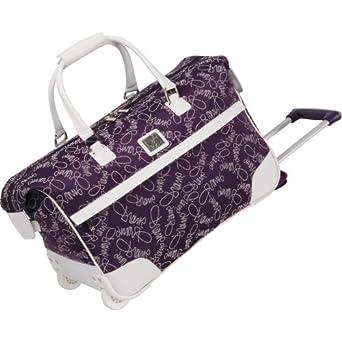 Diane Von Furstenberg Luggage Color On The Go Wheeled City Bag, Purple/White, One Size