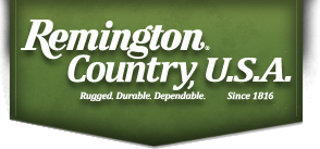 Remington Country USA Logo:  Rugged, Durable, Dependable Outdoor Sporting Equipment Since 1816