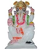 radhey marble lord ganesha - inch 4