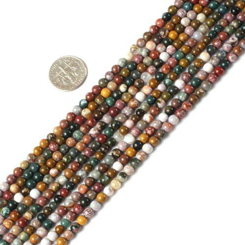 4mm round gemstone ocean jasper beads strand 15