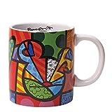 Disney by International Artist Romero Britto for Enesco Peace Love Mickey Mug 4.25 IN