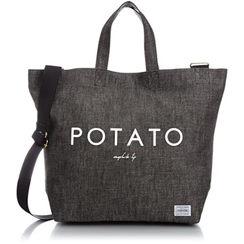[ビージルシヨシダ] B印 YOSHIDA PORTER×B印 YOSHIDA POTATO SHOULDER TOTE 34610689176 19 (BLACK/ONE SIZE)