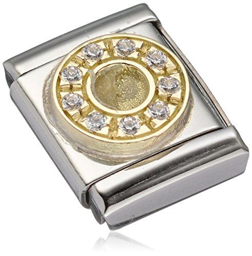 Nomination - 032321-01, Charm e ciondolo per bracciale  in acciaio inossidabile con zirconia, donna, bianco