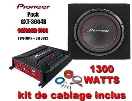 Pioneer GXT3604BSET Pack d'amplificateur pour Haut-parleur Noir