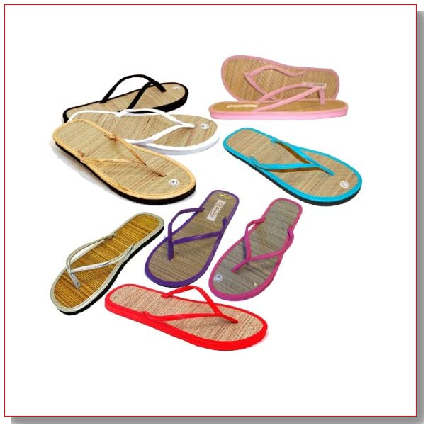 3 pairs - Assorted Bamboo Sandals