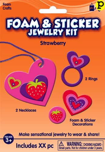 Fibre Crafts 12115E Creative Hands Jewelry Kit, Strawberry Hearts