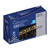 Celebrations 100 Led Mini Icicle-Style Light String Warm White. Approx. Lighted Length 6'