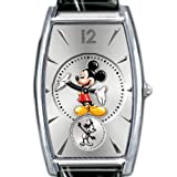 Disney Mickey Mouse Watch With Interchangeable Leather Watchbands: Mickey Now & Then by The Bradford Exchange