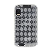 Amzer 90527 Luxe Argyle High Gloss TPU Soft Gel Skinase - Clear For Motorola ATRIX MB860