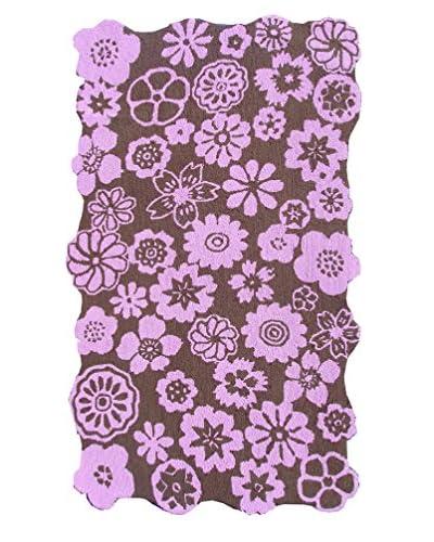 The Rug Market Petunia Rug, Brown/Pink, 2' 8 x 4' 8