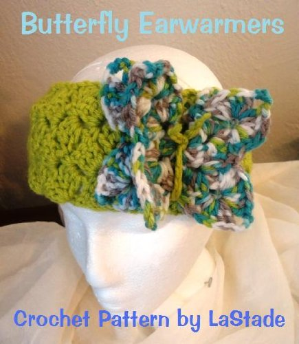 Crochet Pattern Butterfly Earwarmers