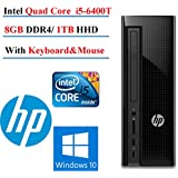 2017 Newest HP Slimline 260 Desktop PC With Intel Core I5-6400T Processor, 8GB Memory, 1TB Hard Drive And With Keyboard Mouse,Bluetooth 4.0, Windows 10 Home (Monitor Not Included)