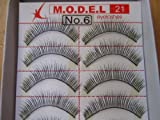 Model 21 False High End Eyelashes No. 6 or 132 10 Pairs