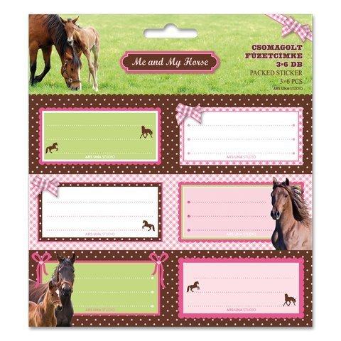 Pferd etichette bambini Stickers Adesivo 18pezzi