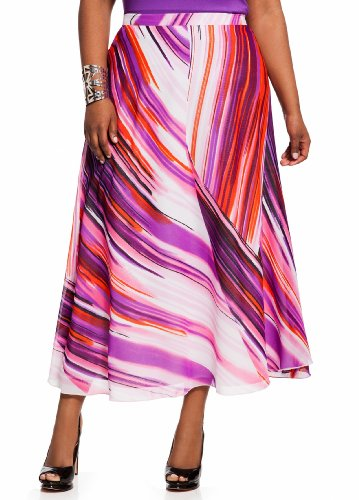 Ashley Stewart Women's Plus Size Flared Striped