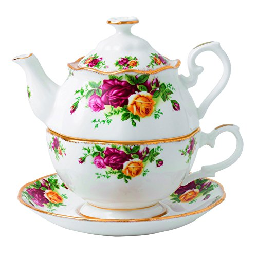 Royal Albert Old Country Roses for One Tea Pot, 16.5 oz, Multicolor (Old Country Roses Teapot compare prices)