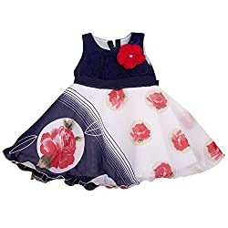 Yashasvi Baby Girl's Rose print Cotton Dress