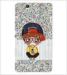 PrintDhaba Cartoon D-3168 Back Case Cover for SONY XPERIA C4 (Multi-Coloured)