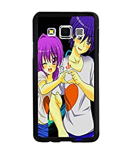 Fuson Love Couple Back Case Cover for SAMSUNG GALAXY A3 - D3641