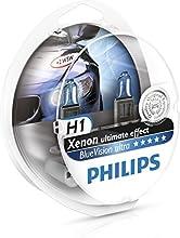 Comprar Philips 12258BVUSM BlueVision Ultra - Bombilla H1 para faros delanteros (2 unidades, 12 V, 55 W)