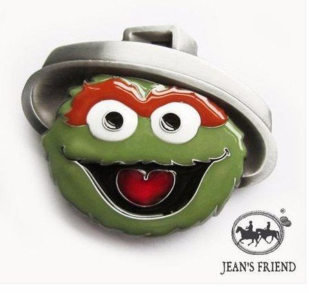 Fibbia per cintura new vintage uomo accessori Oscar Sesame Street