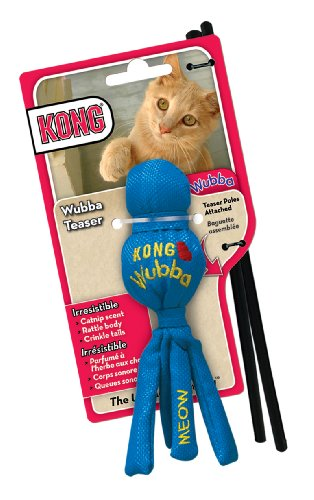 KONG Cat Wubba Teaser Cat Toy (Colors Vary)