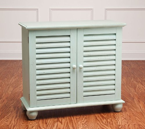 Light Blue 2-Door Shutter Cabinet