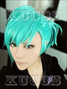 Newest Mikaze Ai Cosplay Green Short Wig Anime Cos Wig+free Wig Cap