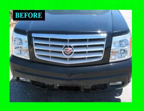 2002-2006 CADILLAC ESCALADE CHROME GRILLE GRILL KIT 2003 2004 2005 02 03 04 05 06 ESV EXT (Escalade Grill compare prices)