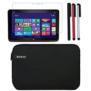 BIRUGEAR Neoprene Carrying Sleeve Case with Screen Protector, Stylus Pack for HP Split x2 13-g100 13.3'' Detachable Windows 8 hybrid Tablet PC