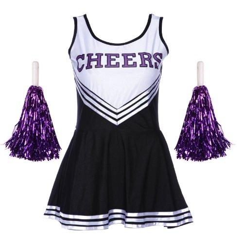 Sexy Cheerleader Uniform Kleid Trikot Dress Cheerleading Cheer kostüm Fasching Karneval GOGO GIRL Kostüm bis Übergroß
