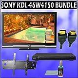 Sony Bravia W-Series KDL-46W4150 46in. 1080P LCD HDTV + Sony DVD Player w/ Wall Mount Accessory Kit