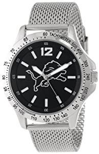 Game Time Mens NFL-CAG-DET Cage NFL Series Detroit Lions 3-Hand Analog Watch by Game Time