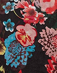 VB Woman's Scarf, fashionable - with decorative floral- pattern
