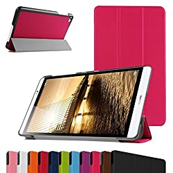 Huawei MediaPad M2 8.0 Slim Shell Case,Mama Mouth Ultra Slim Lightweight 3-folding PU Leather Standing Cover For 8
