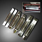 Stainless door sill scuff plate exterior 6pcs for 2012 2013 TOYOTA HIGHLANDER