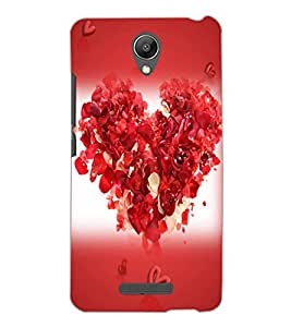 XIAOMI REDMI NOTE 2 HEART Back Cover by PRINTSWAG