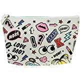 Generic Hot Lip/Big Eyes Makeup Cosmetic Bag Toiletry Bag Brushes Foudation Blush Travel Pouch - Muticolor