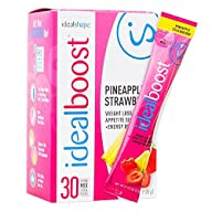 IdealBoost Weight Loss Drink Packets (Pineapple Strawberry) by IdealShape. The Perfect Hunger…