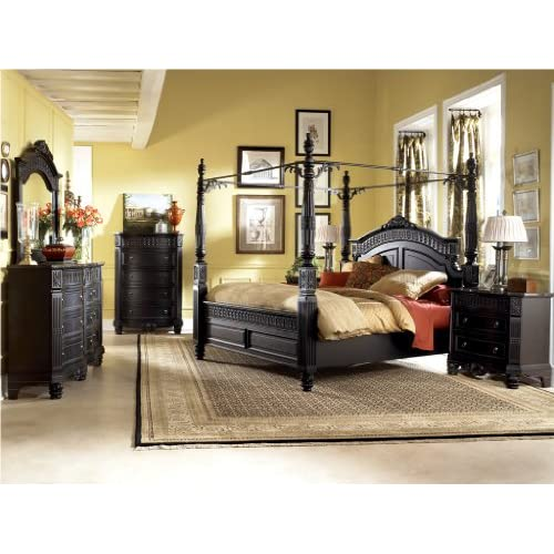 Britannia rose queen poster bedroom set by for Bedroom furniture amazon