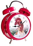 Zeon Wacky Waker Cockerel Twin Bell Alarm Clock with Actual Cockerel Sound
