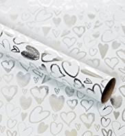 Silver Hearts Roll Wrap