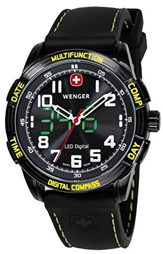 [ウェンガー] WENGER 腕時計 アナデジ LEDウォッチ Nomad ノマド 70434 メンズ [並行輸入品]