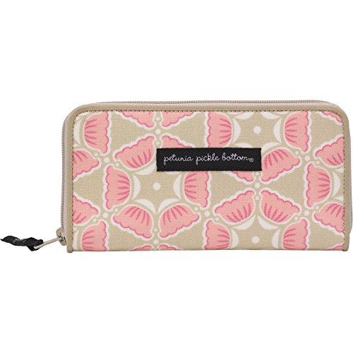 Petunia Pickle Bottom Wanderlust Wallet in Blooming Brixham, Pink