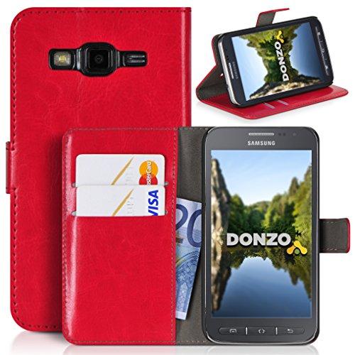 DONZO Wallet Washed Custodia per Samsung Galaxy Core Advance I8580 rosso