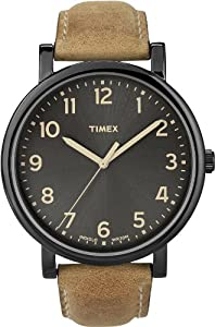 Timex Premium Originals Black Tan Mens Watch T2N677