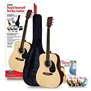 alfred 39 s teach yourself to play acoustic guitar complete starter pack acoustic. Black Bedroom Furniture Sets. Home Design Ideas