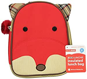 Skip Hop Zoo Lunchie Insulated Lunch Bag, Fox