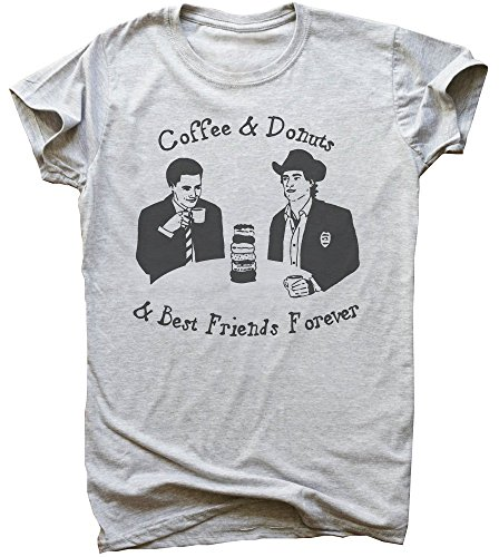 Twin Peaks Coffee And Donuts And Best Friends Forever Design Men's T-Shirt Medium